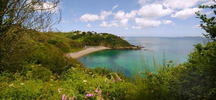 Quiet bay on Guernsey