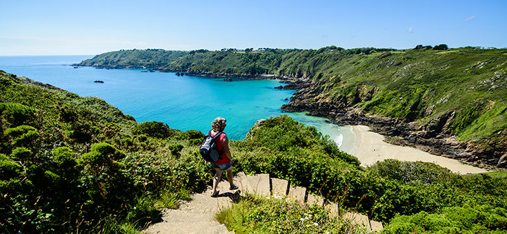 Cliff views in Guernsey