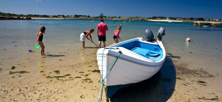 Boat on a Guernsey beach