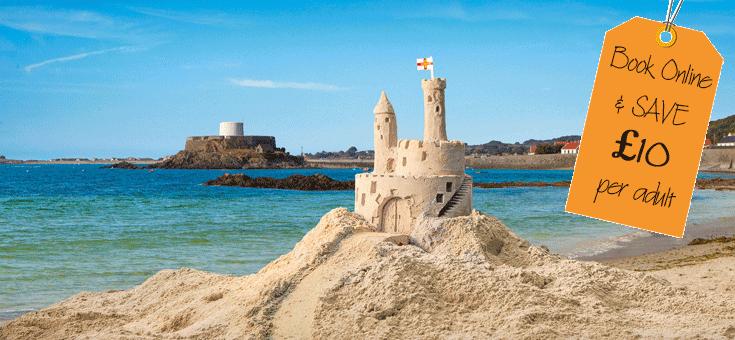 Sandcastle in Guernsey