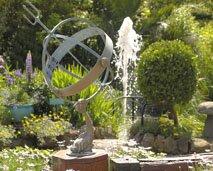 Bruce Russells Silversmiths garden in Guernsey